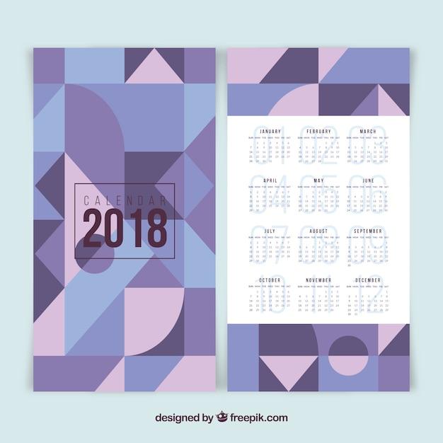 Multicolor 2018 calendar