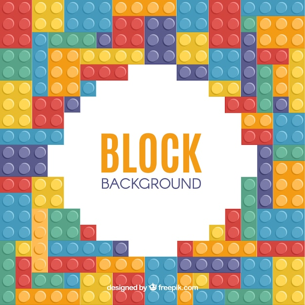 Multicolor blocks frame Free Vector