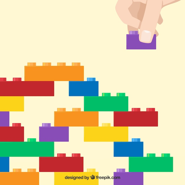 Multicolor blocks structure background Premium Vector