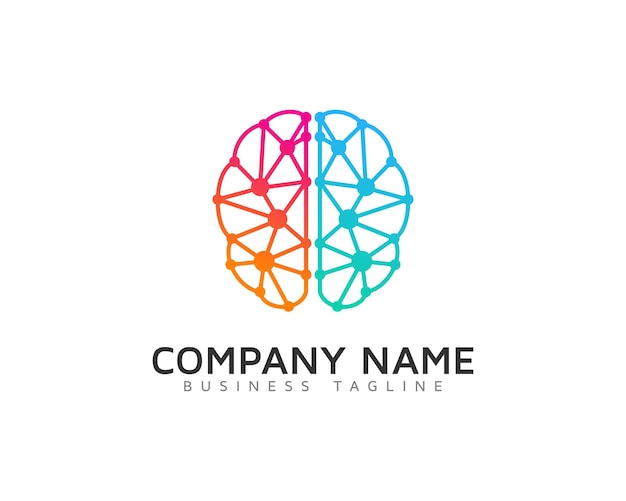 multicolor brain logo vector   premium download