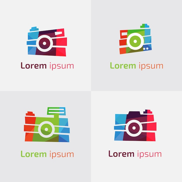 Multicolor camera logo collection