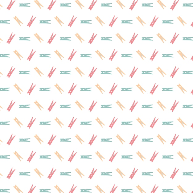 Free Vector Multicolor Clothes Peg Pattern Background