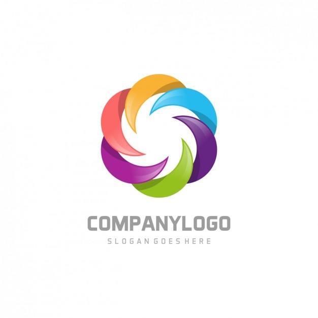 Multicolor corporative logo Free Vector