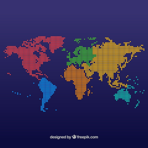 Dotted world map vectors photos and psd files free download multicolor dot world map design gumiabroncs Choice Image