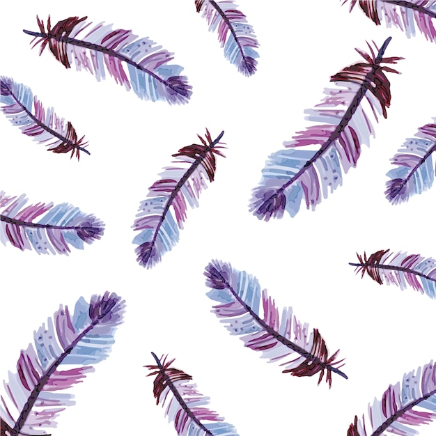 Multicolor feather pattern background Vector | Free DownloadFeather Background Twitter