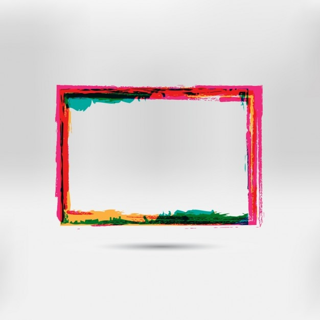 Multicolor hand painted frame Vector | Free Download