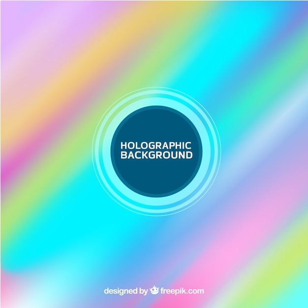 Multicolor holographic background Free Vector
