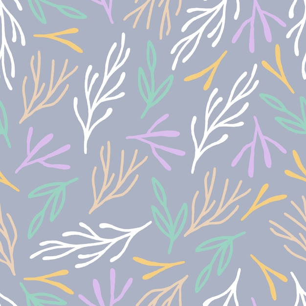 Multicolor leaves pattern background Free Vector