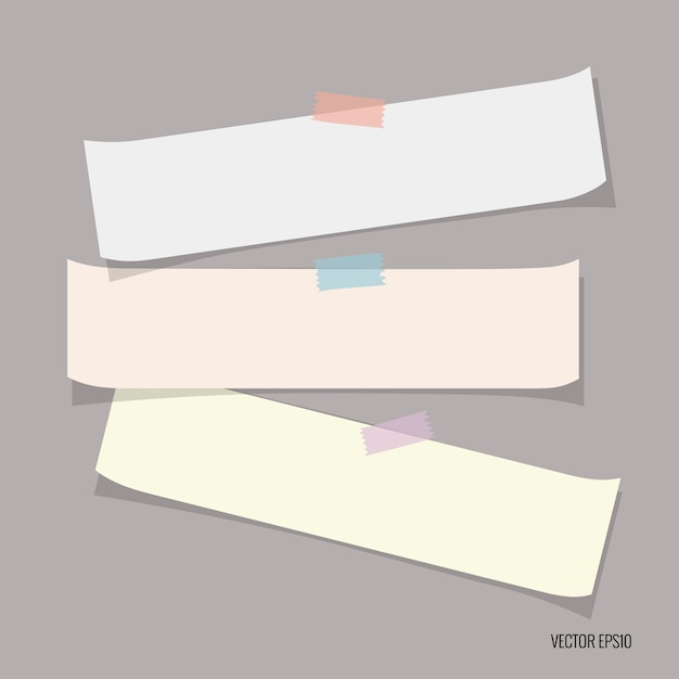 여러 가지 빛깔의 논문 모음 무료 벡터
