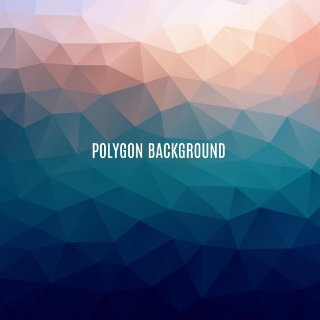 Multicolor polygonal background Free Vector