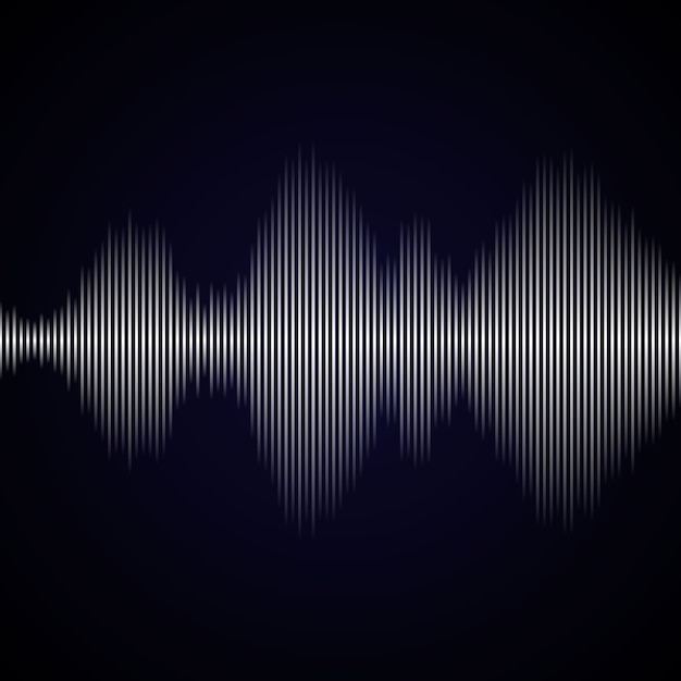 Multicolor sound wave from equalizer background Premium Vector