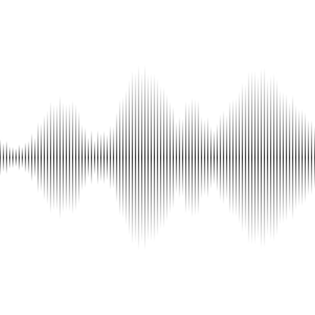 Multicolor sound wave from equalizer Premium Vector