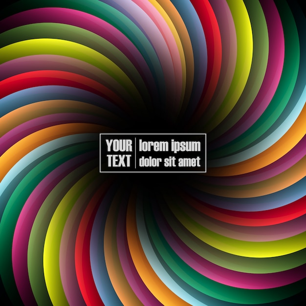 17255ffb2c Multicolor spiral background Vector | Free Download