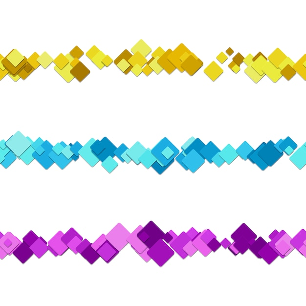 Multicolor square text dividers Free Vector