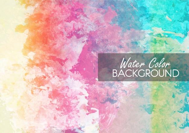 Multicolor watercolor background Free Vector