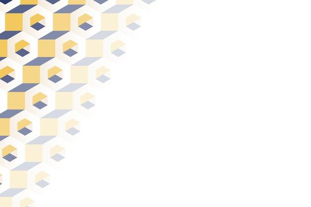 Разноцветный 3d гексагональной узор фона Бесплатные векторы