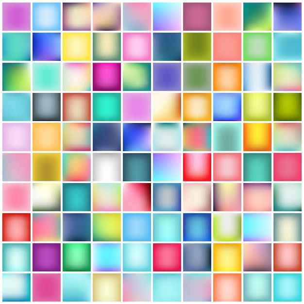Multicolored blurred background set. Premium Vector