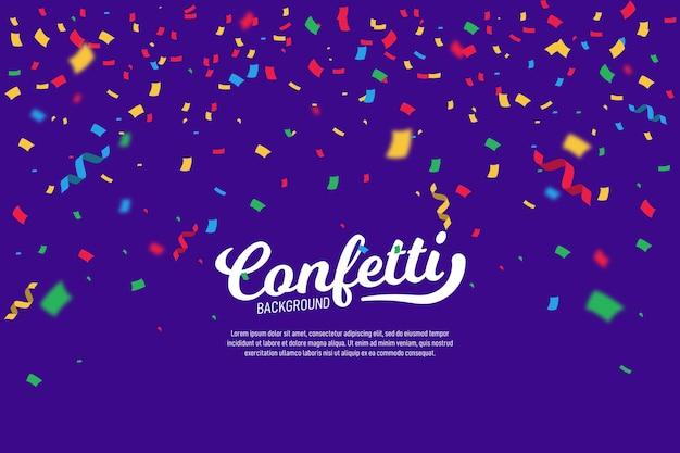 Разноцветный фон конфетти Premium векторы