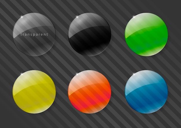 Multicolored glass lenses Premium Vector