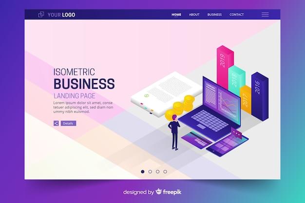Разноцветная бизнес-страница Бесплатные векторы