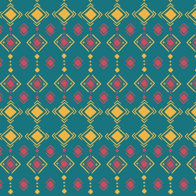 色とりどりの伝統的なソンケットパターン Premiumベクター