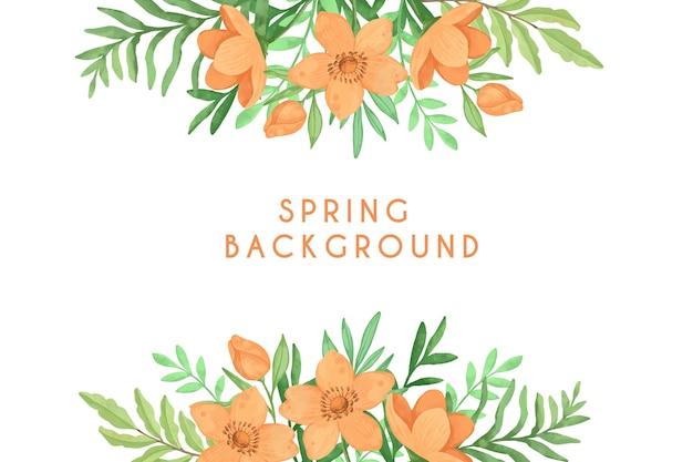 Sfondo primavera acquerello multicolore Vettore gratuito