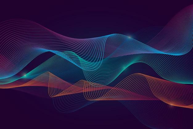 Разноцветный волнистый фон Бесплатные векторы