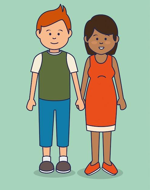 Multicultural people avatars illustration Free Vector