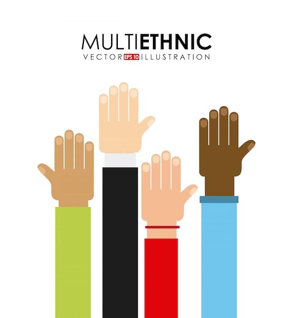 Multiethnic Premium Vector