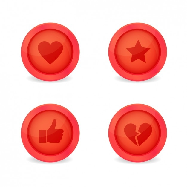 Multimedia buttons pack Free Vector