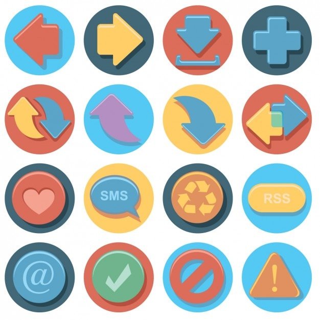 Multimedia icon collection Free Vector
