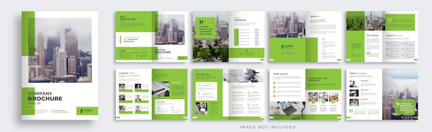 Multipage brochure template layout Premium Vector