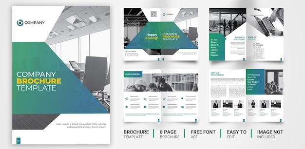 Многоцелевой дизайн корпоративной брошюры 8 стр. Premium векторы