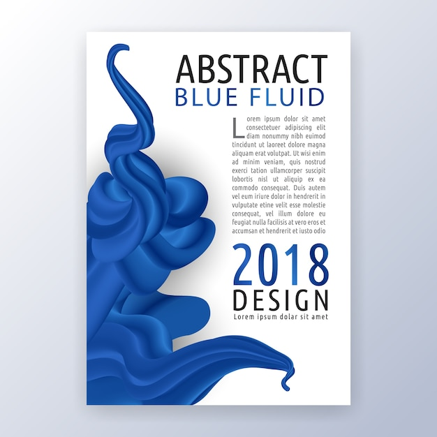 Multipurpose corporate business flyer layout design. Suitable for flyer, brochure, book cover and annual report. Abstract blue liquid background.