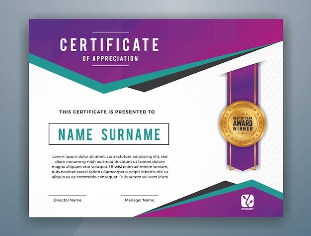 multipurpose modern professional certificate template design for print vector illustration premium vector - Modern Certificate Template