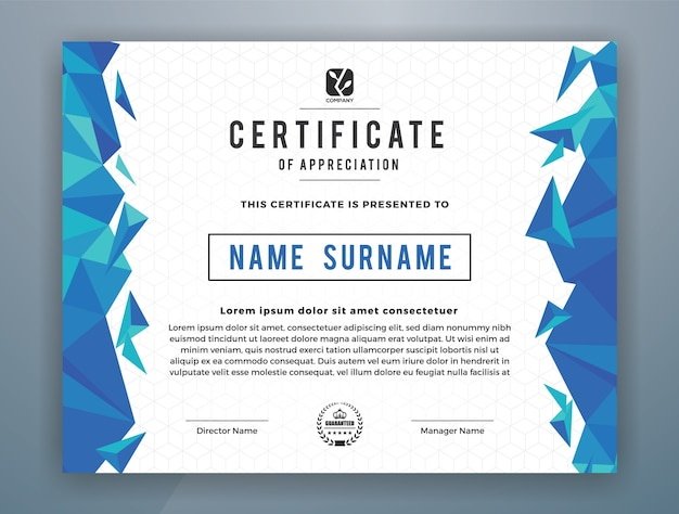 Multipurpose Modern Professional Certificate Template Design For
