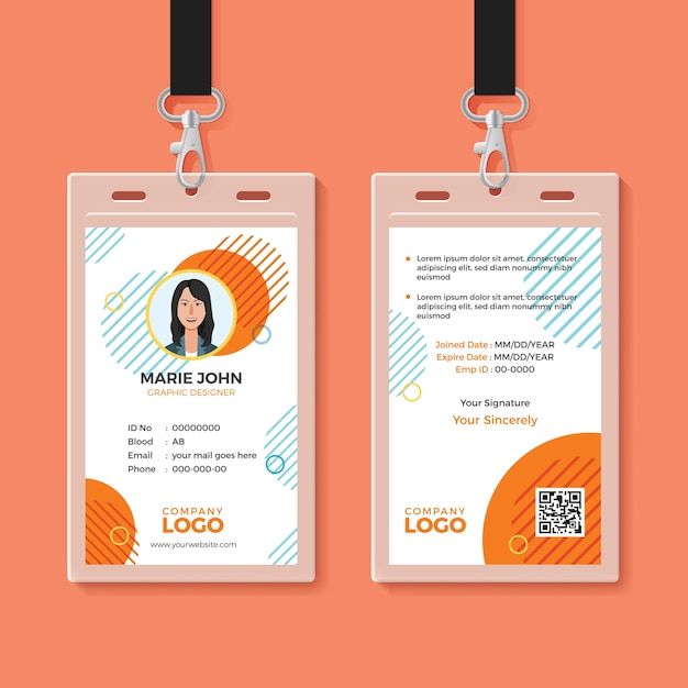 Multipurpose office id card template Premium Vector