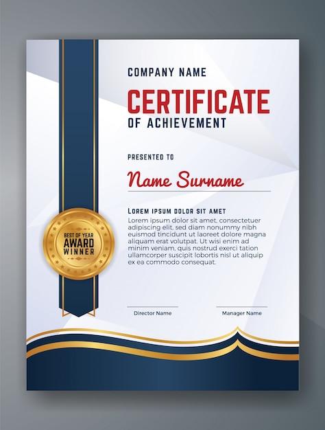 Multipurpose Professional Certificate Template Design Vector