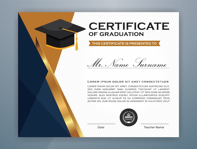 Multipurpose professional certificate template Vector ...