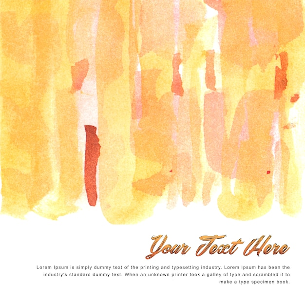 Multipurpose watercolor background template with warm tones Free Vector