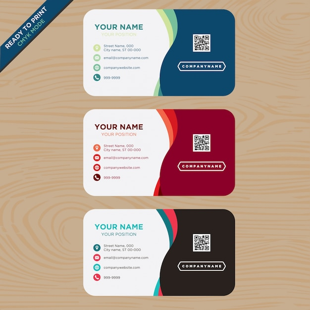 Multitone business card Free Vector