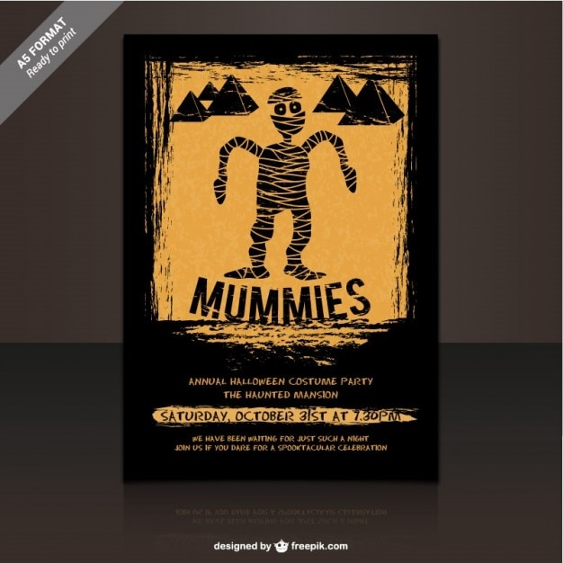 Mummies Party Flyer Template For Halloween Vector Free Download