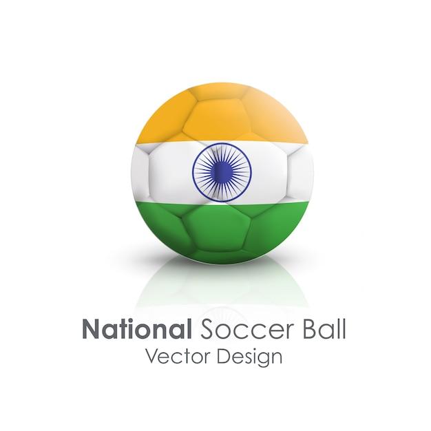 国民のサッカーボールmundialボールオブジェクト 無料ベクター