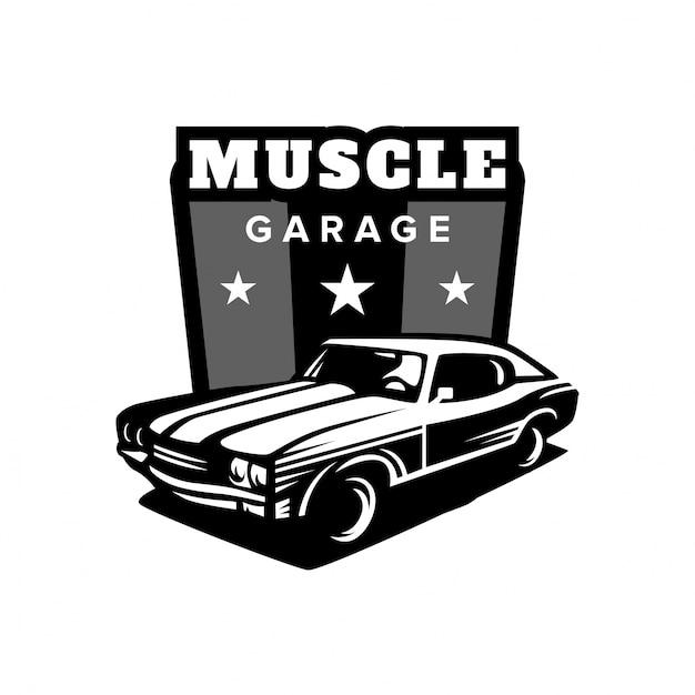Muscle Car Garage Logo Vector Premium Download