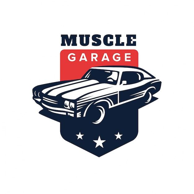 muscle car logo vector premium download rh freepik com muscle car emblem Wolf Logo