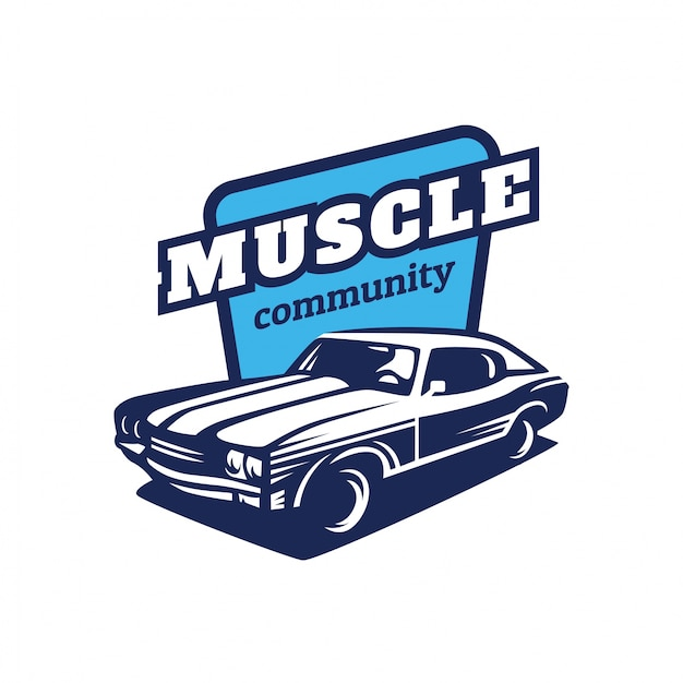 Muscle Car Logo Vector Premium Download
