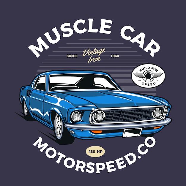Muscle car Premium Vector