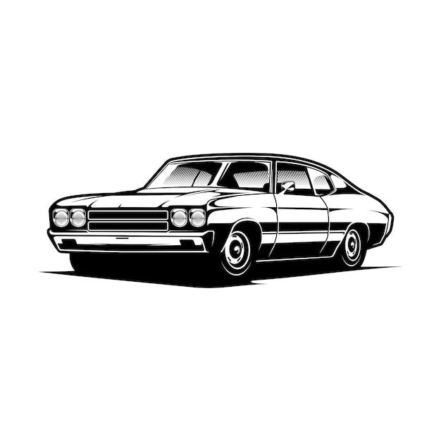 Muscle car иллюстрация Premium векторы