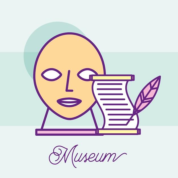 Museum monuments design Premium Vector