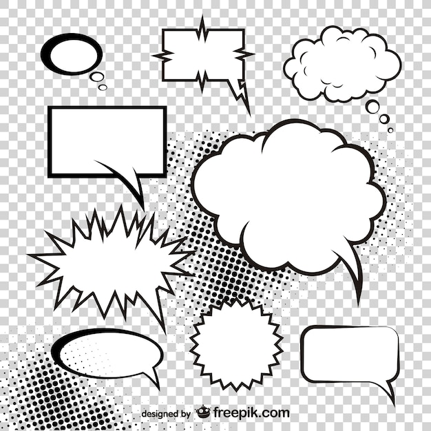 Mushroom Cloud Of The Comic Style Dialog Box Vector Vector